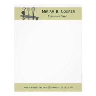Choisissez votre professionnel de chef exécutif en-tête de lettre avec motif