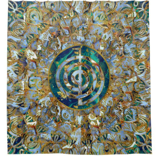 Choku Rei Symbol in Mandala on Marble and Gold