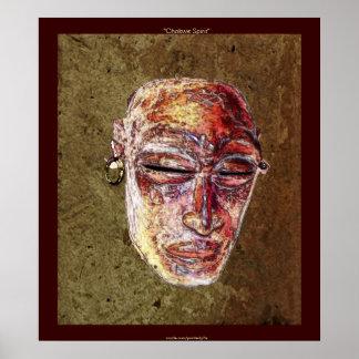 CHOKWE SPIRIT African Mask Art Poster
