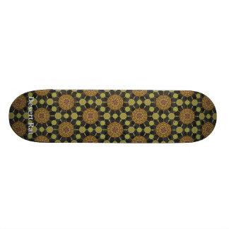 Cholla Cactus Mandala  Array Skateboard