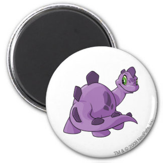 Chomby Purple 2 Inch Round Magnet