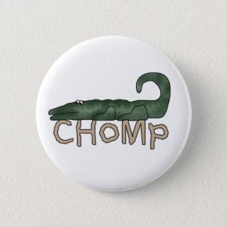 Chomp Alligator 2 Inch Round Button