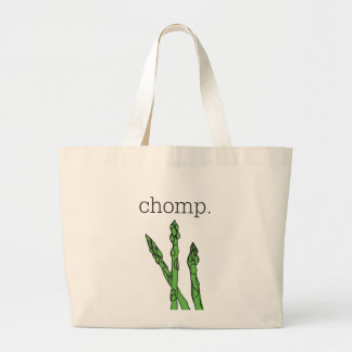 chomp. (asparagus) large tote bag