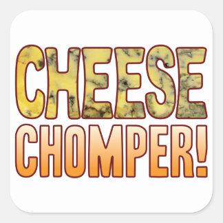 Chomper Blue Cheese Square Sticker