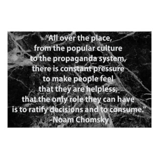 Chomsky Quotation Poster