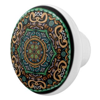 Chons Da Mandala (Customizable Background) Ceramic Knob