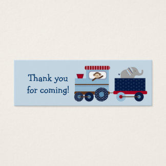 Choo Choo Animal Train Party Favor Gift Tags