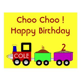 Choo Choo Happy Birthday!! postcard