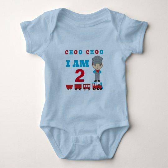 CHOO CHOO I AM 2 Train Themed Baby Cloths Baby Bodysuit