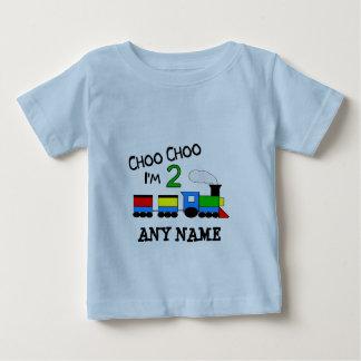 Choo Choo I'm 2!  With TRAIN Baby T-Shirt