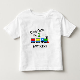 Choo Choo I'm 2!  With TRAIN Toddler T-shirt