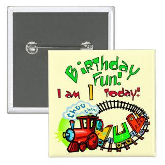 Choo Choo Train 1st Birthday Tshirts and Gifts 2 Inch Square Button