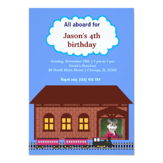 "Choo Choo Train 5"" X 7"" Invitation Card"