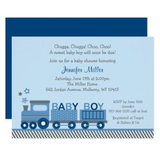 Choo Choo Train Baby Shower Card
