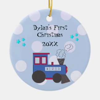 Choo Choo Train Baby's First Christmas Ceramic Ornament