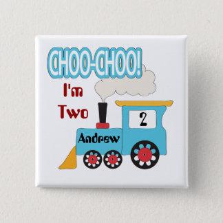 Choo Choo Train Birthday Button