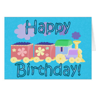 Choo Choo Train Birthday Card
