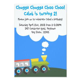 Choo Choo Train Birthday Party Card