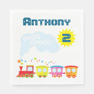 Choo Choo Train Birthday Party Napkins