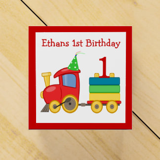 Choo Choo Train Children's Birthday Favor Boxes