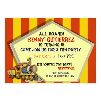 Choo Choo Train Custom Kids Party Invites