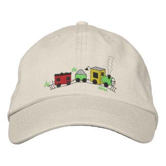 Choo Choo Train Embroidered Baseball Caps