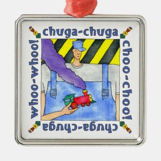 Choo Choo Train Engineer Metal Ornament
