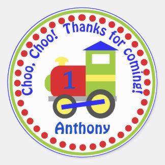 Choo Choo Train Favor Stickers