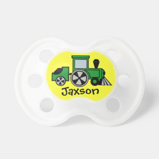 Choo Choo Train Green Baby Pacifiers