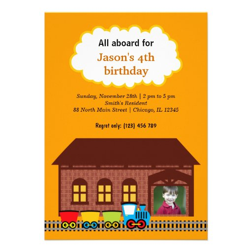 Choo Choo Train Personalized Invitations