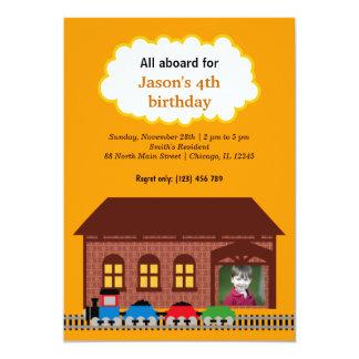 Choo Choo Train Custom Invitation