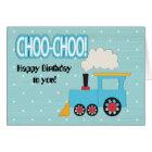 Choo Choo Train Kids Birthday Card