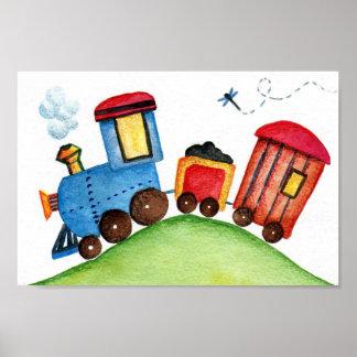 Choo-choo Train print