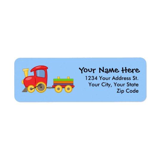 Choo Choo Train Return Address Labels
