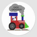 Choo Choo Train Round Sticker
