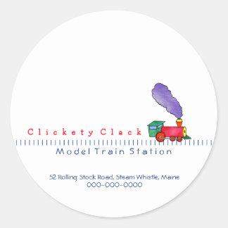Choo Choo Train Shop Classic Round Sticker