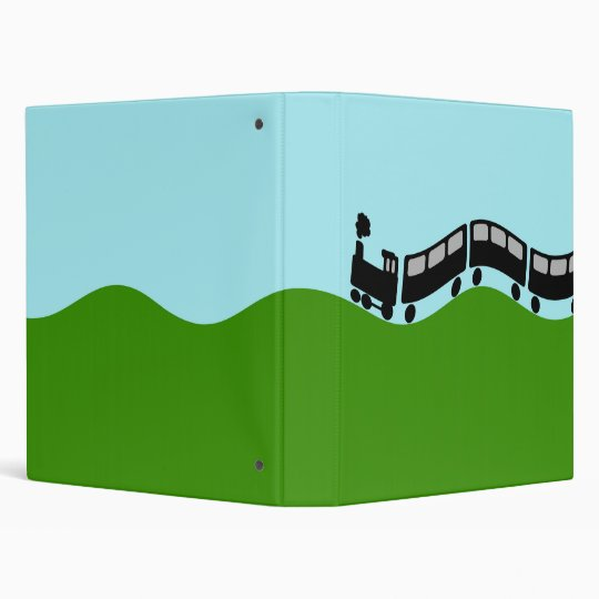 Choo choo train vinyl binder