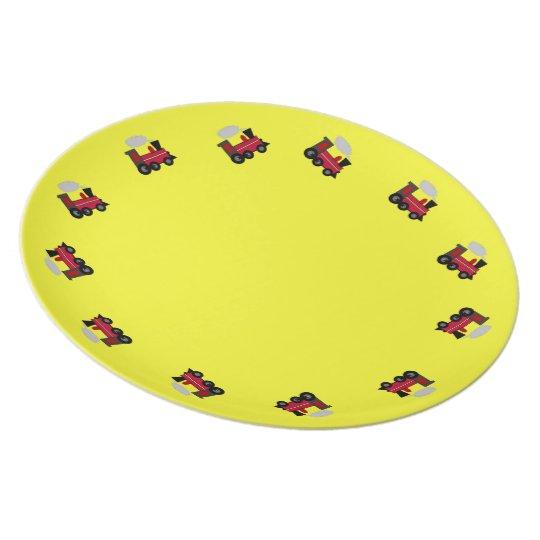 Choo Choo Train Yellow Background Plate