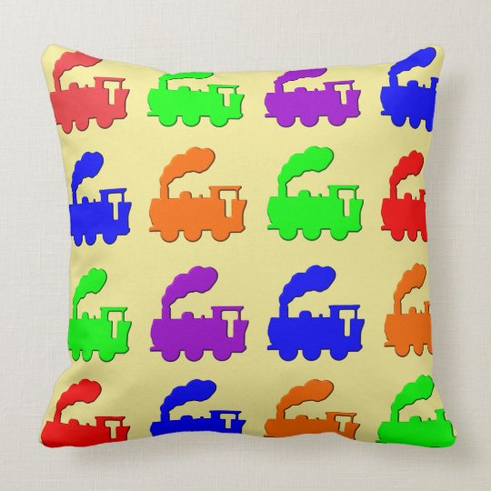 Choo-choo trains throw pillow