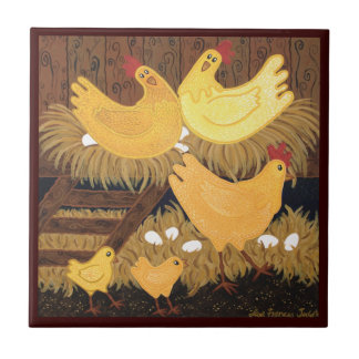Chookie House Printed Ceramic Tile