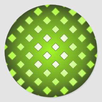 Choose A Color Black Checks Abstract Round Sticker