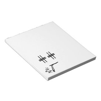 CHOOSE ANY COLOR # Hashtag Dude Smiley Face Notepads