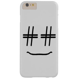 CHOOSE ANY COLOR # Hashtag Smiley Face Cute Barely There iPhone 6 Plus Case