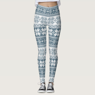 Choose Any Color Winter Fair Isle Pattern Leggings