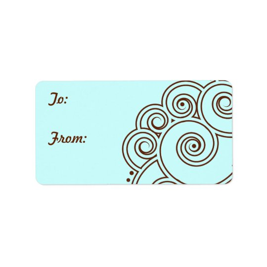 Choose any Colour Charming Swirls Gift Labels
