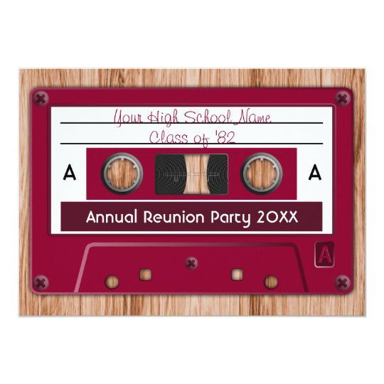 Choose Any Colour High School Reunion Party Card