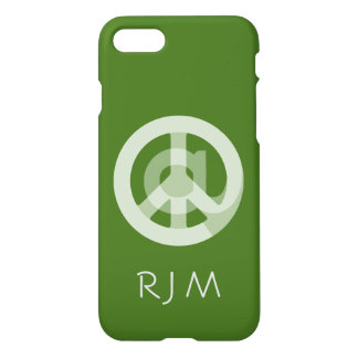 CHOOSE ANY CUSTOM COLOR @ Peace Sign Social Media iPhone 7 Case