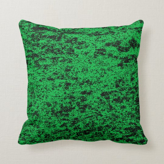 Choose back side of Black n Green Textured Pillow