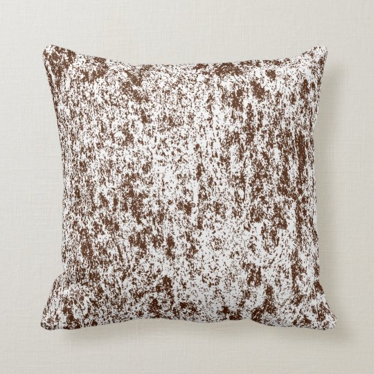 Choose back side of Brown n White Textured Pillow