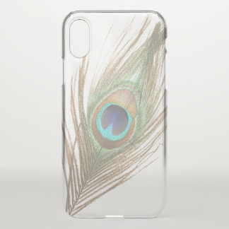 Choose Background Peacock Feather iPhone X Case